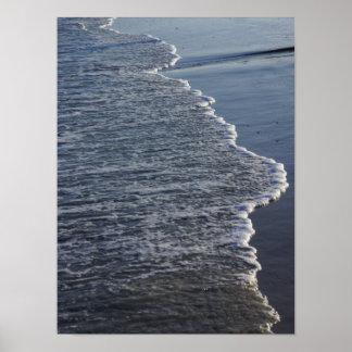 Póster Belleza de la línea de la playa
