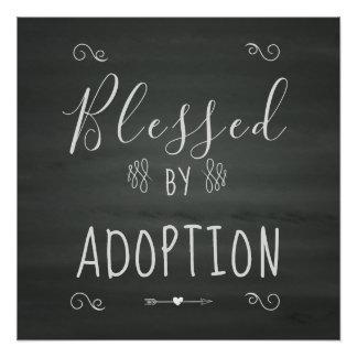 Póster Bendecido por la adopción - la acogida, adopta el