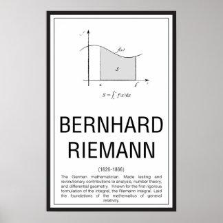 Póster Bernhard Riemann