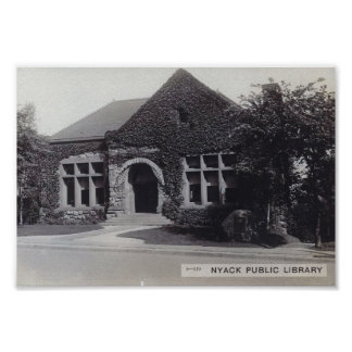 Póster Biblioteca, Nyack, vintage de Nueva York