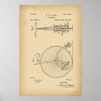 Póster Bicicleta de 1881 patentes