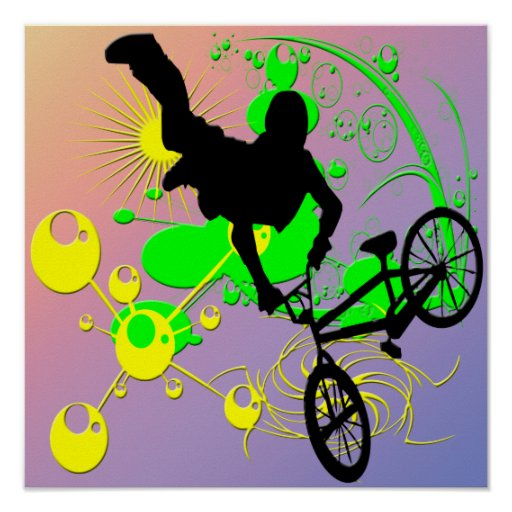 Poster Biking extremo