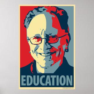 Póster Bill Ayers - educación: Poster de OHP
