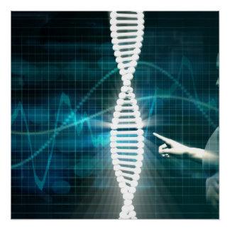 Póster Biotecnología como fondo del extracto de la