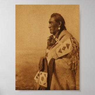 Poster Blackfoot indio de la impresión del arte de