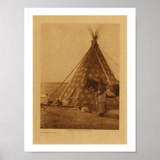 Poster Blackfoot indio del arte de la tienda de lo
