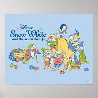 Póster Blanco como la nieve y los siete enanos que toman
