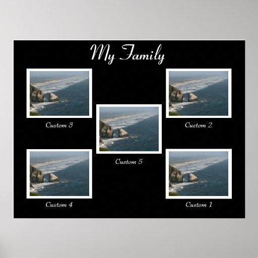 Poster blanco y negro de la familia zazzle - Familias en blanco y negro ...
