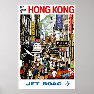 Póster BOAC - Hong Kong