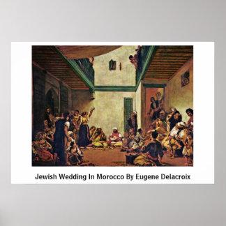 Póster Boda judío en Marruecos de Eugene Delacroix