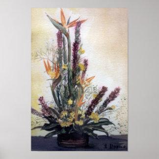 Póster Bodegón de flores/Still life of flowers
