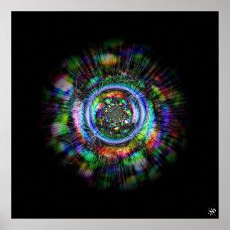 Póster Bosquejo psicodélico colorido de un ojo