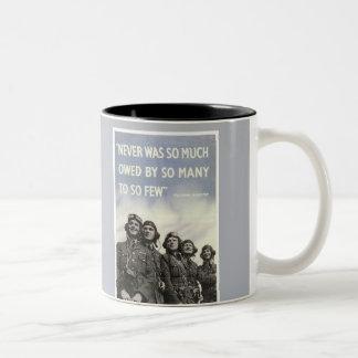 Poster británico de la guerra mundial 2 tazas de café