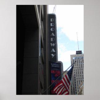 Póster Broadway NYC