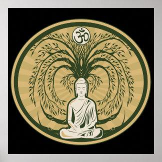 Póster Buda debajo del árbol de Bodhi