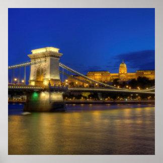 Póster Budapest, Hungría