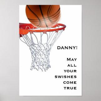 Póster buena suerte del baloncesto