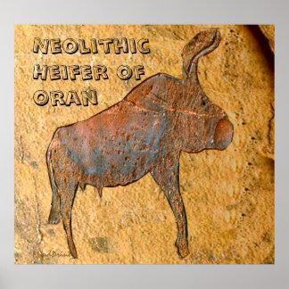 Póster Búfalo neolítico de Orán