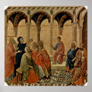 Póster Buoninsegna - doce años Jesús en templo