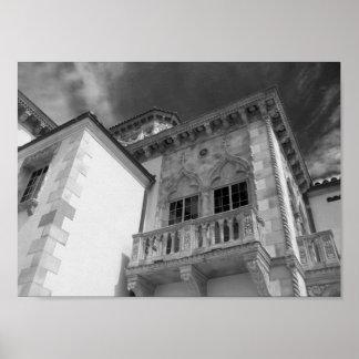 Póster Ca d'Zan el Juan y la mansión FL de Mable Ringling