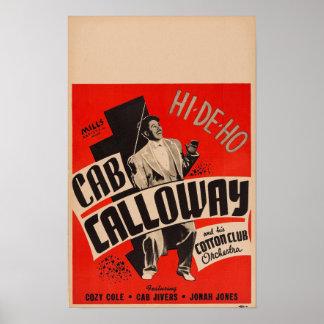 Póster Cab Calloway y su poster de la orquesta del club