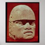 Póster Cabeza colosal, Olmec