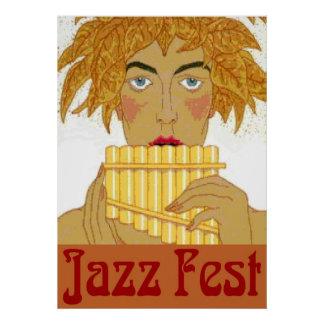 Póster Cacerola del Fest del jazz en la flauta