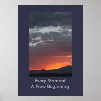 Póster Cada momento un nuevo poster del principio