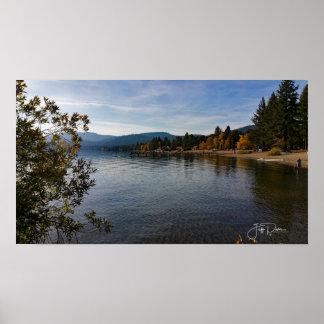 Póster Caiga abajo en el lago