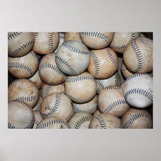 Póster Caja de béisboles
