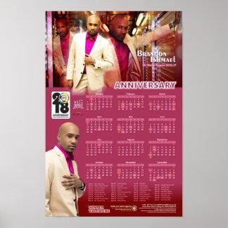 Póster Calendario del poster de la premier de Brandon
