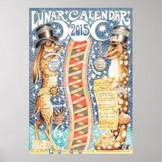 Póster Calendario lunar 2015