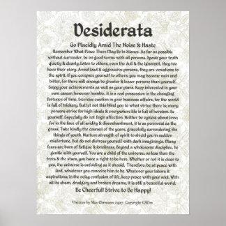 Póster Caligrafía Ehrmann-Medieval máxima del poster de l