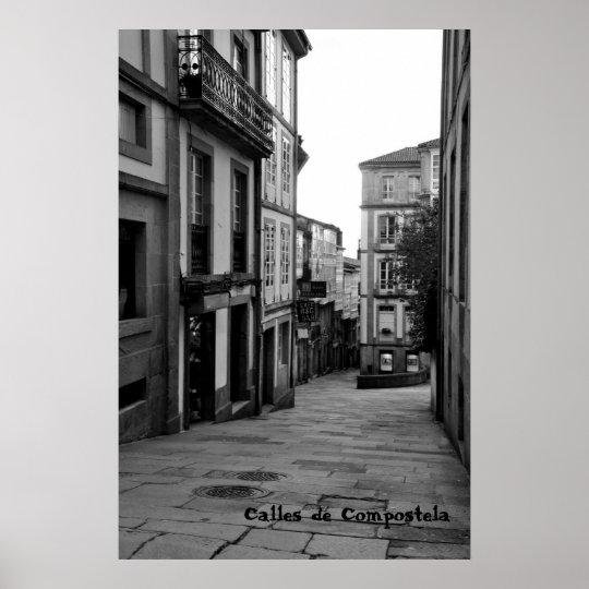 Póster Calles de Compostela