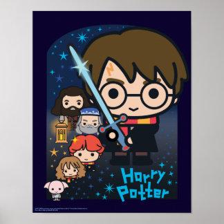 Póster Cámara de Harry Potter del dibujo animado de