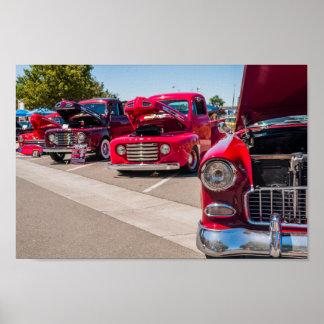 Póster Camiones rojos clásicos