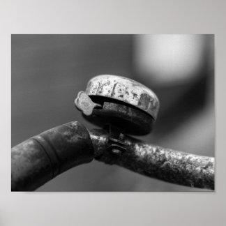 Póster campana rústica de la bicicleta del urbex del