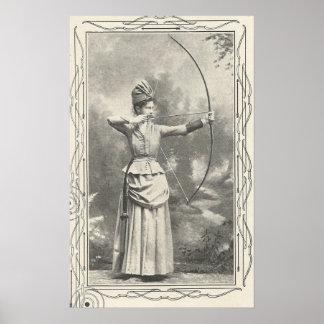 Póster Campeón del tiro al arco de 1904 hembras