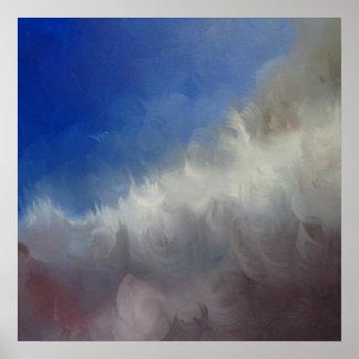 Póster Campo de color abstracto de la nube