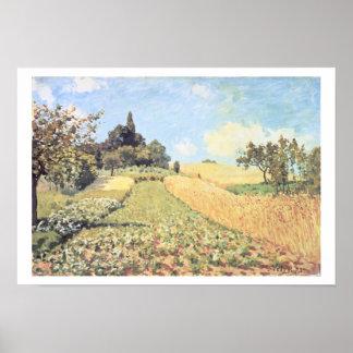 Póster Campo de trigo de Alfred Sisley el |