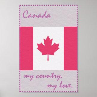 Póster Canadá mi país mi amor
