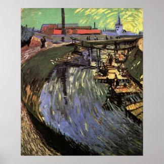 Póster Canal con las mujeres que se lavan por Vincent van