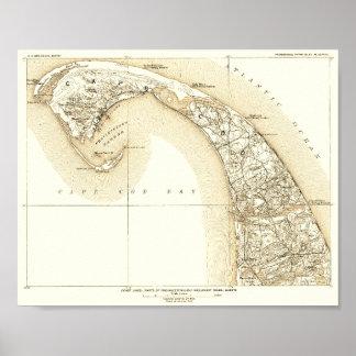 Póster Cape Cod costero, Provincetown, 10:8 externo del