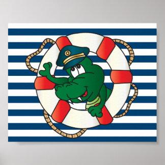 Póster Capitán Alligator de la diversión