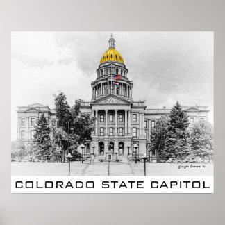 Póster Capitolio del estado de Colorado, bóveda del oro,