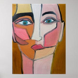 Póster Cara abstracta
