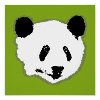 Póster Cara del oso de panda gigante
