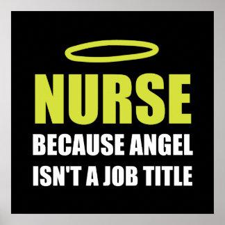 Póster Cargo del ángel de la enfermera