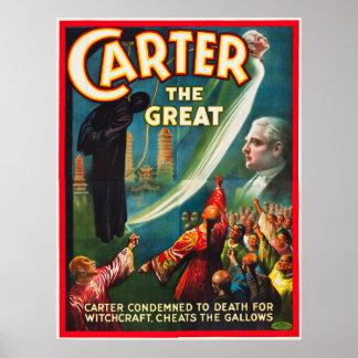 Póster Carretero el grande engañando la horca