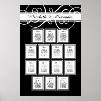 Póster Carta clásica del asiento de la tabla de la cena